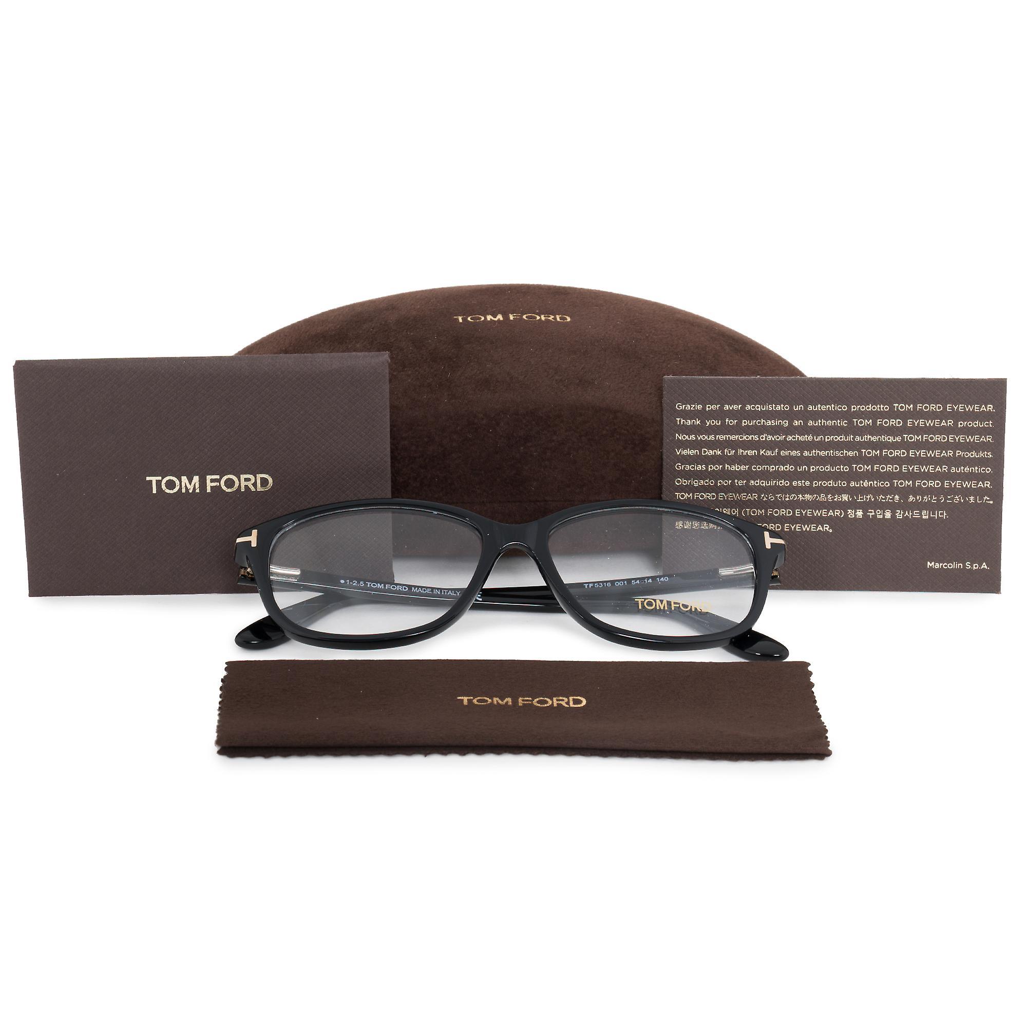 Tom Ford FT5316 001 54 Square | Black | Eyeglass Frame