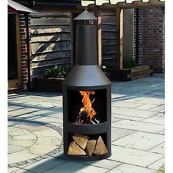 BBQ Barbeque Charcoal Burner Grill Firepit Steel Outdoor Cooker Fire Pit Griddle