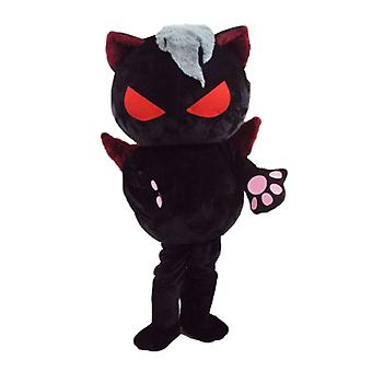 SPOTSOUND of evil cat mascot, with orange eyes and wings