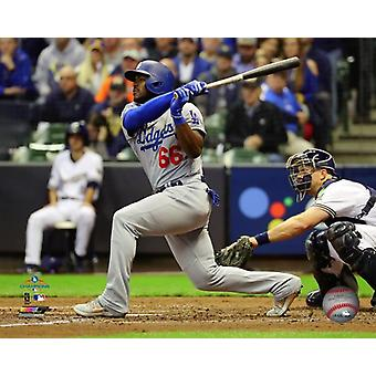 Yasiel Puig trzy run Home Run gra 7 2018 National League Championship Series Photo Print