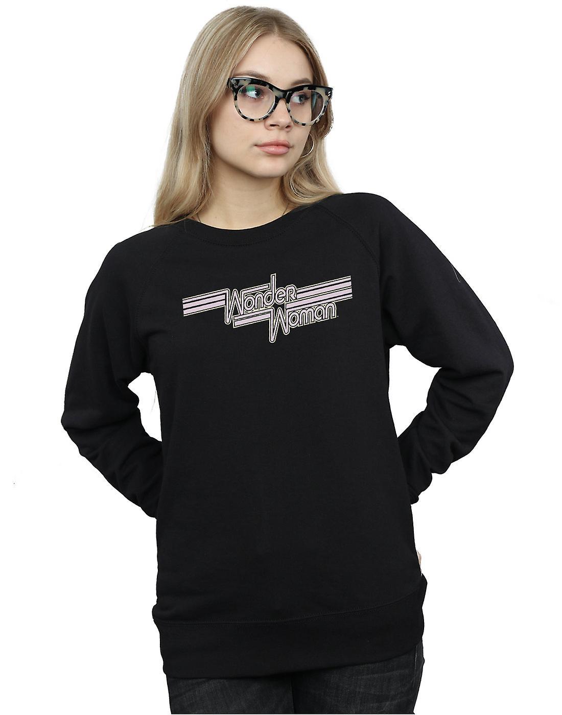 DC Comics Women's Wonder Woman Lines Logo Sweatshirt