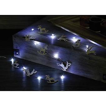 Polarlite LBA-04-006 Holiday lights (motif) Moose Inside battery-powered No. of bulbs 10 LED (monochrome) Cold white Illuminated length: 0.9 m