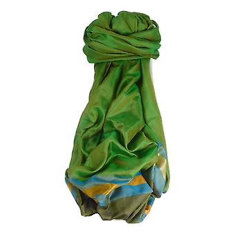 Varanasi Border Prime Silk Long Scarf Heritage Rampersan 414 by Pashmina & Silk