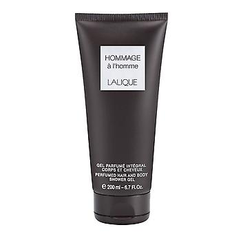 Lalique Hommage a L'Homme Perfumed Hair & Body Shower Gel 200ml