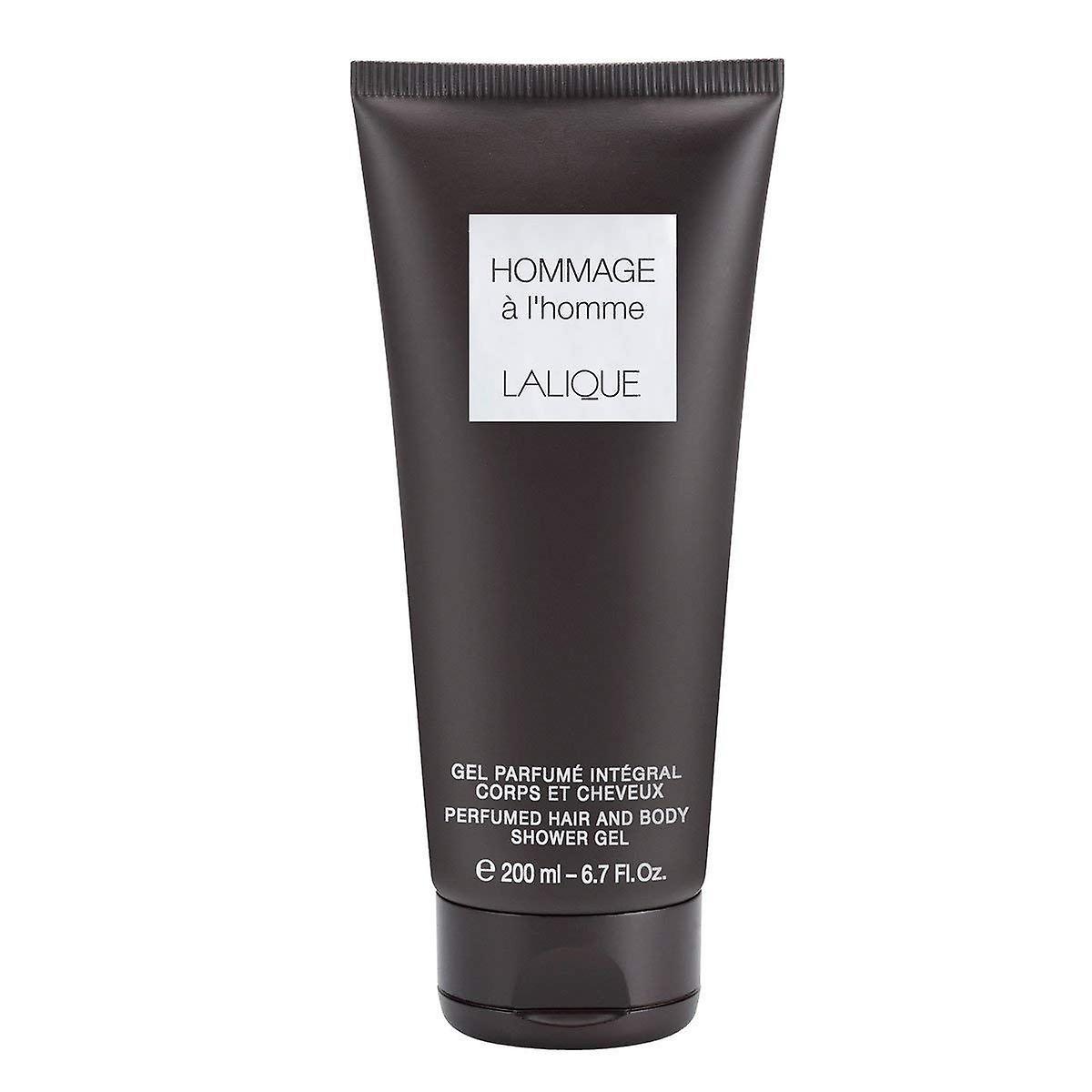 Lalique Hommage en L'Homme parfymerte hår & kroppen dusj Gel 200ml