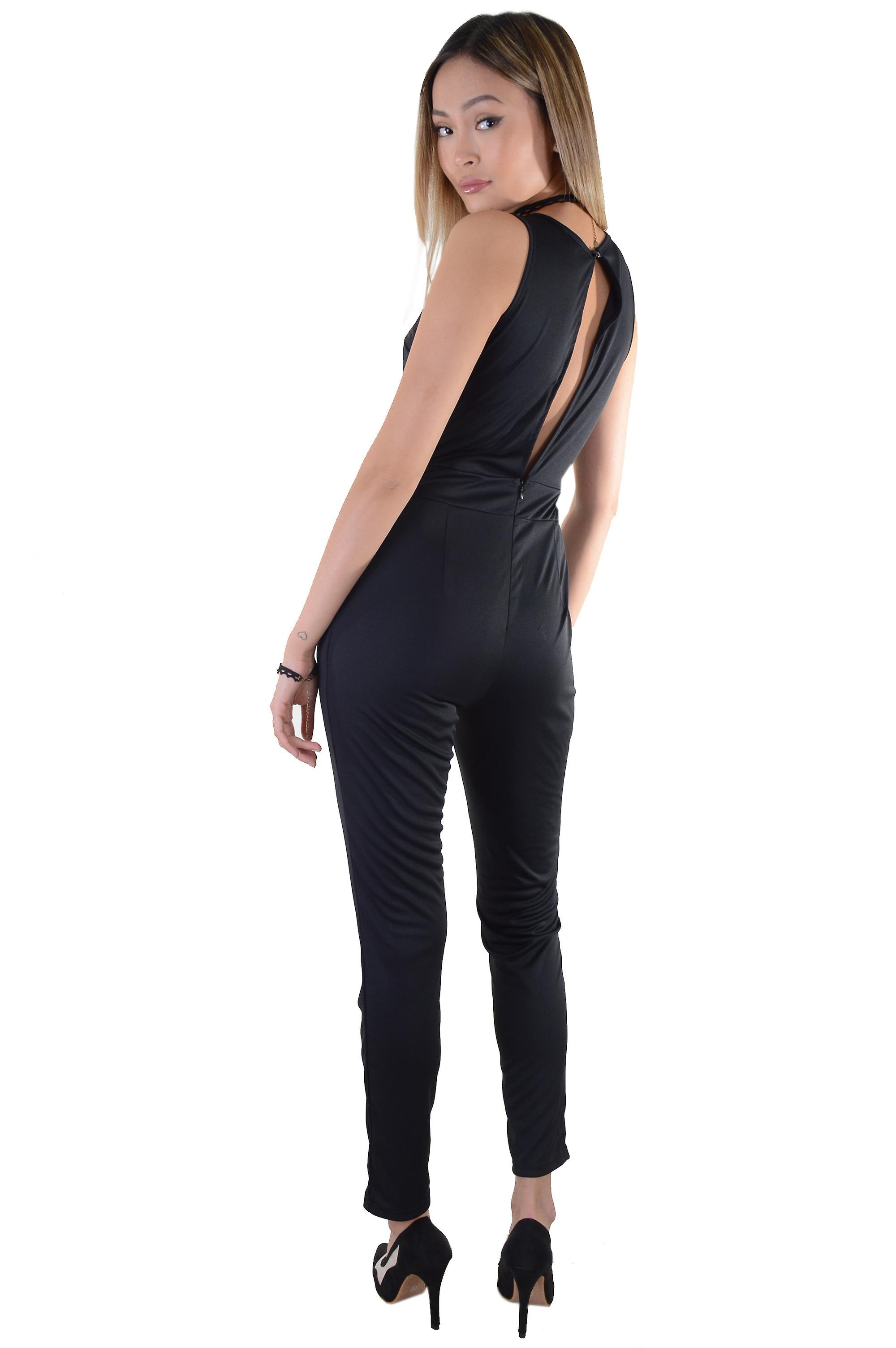 Lovemystyle Jumpsuit In Black Featuring Peak-A-Bo Back