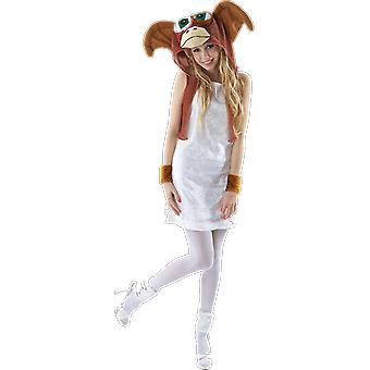 Womens Gremlins Movie Gizmo 80s Halloween Monster Fancy Dress Costume