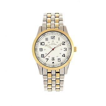 Elevon Garrison Bracelet Watch w/Date - Gold/White