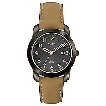Timex T2P133 Armbanduhr, Herren analogen Zifferblatt, braunen Lederarmband,