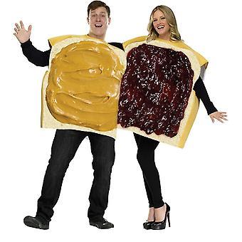 Jordnøddesmør/Jelly par kostume voksen