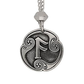Runa Ansuz Viking Norse fatti a mano di comunicazione 4a lettera runica peltro ciondolo