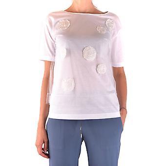 Fabiana Filippi Ezbc055021 Camiseta de Algodão Branco Feminino