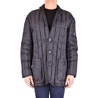 Armani Jeans Ezbc039105 Men's Black Nylon Outerwear Jacket