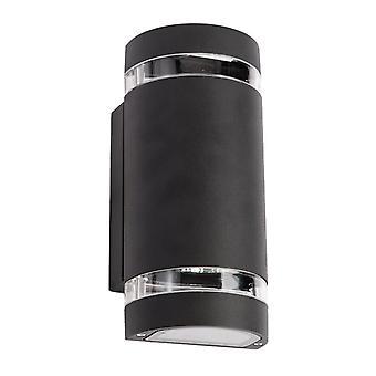 Glasberg - nero due luce all'aperto tondo applique 807021202