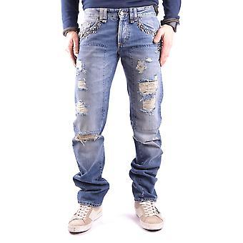 John Galliano Ezbc164048 Men's Blue Denim Jeans