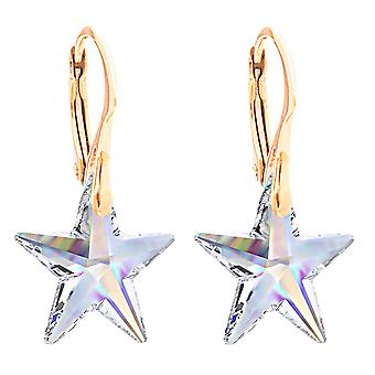 Ah! Jewellery Aurore Boreale Star Crystals from Swarovski Earrings, Sterling Silver