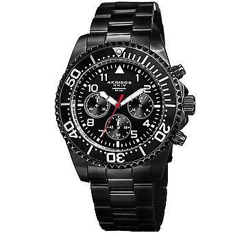 Akribos XXIV Men es Diver Chronograph Stainless Steel Armband Watch AK950BK