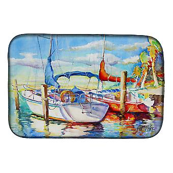 Carolines Treasures  JMK1088DDM Towering Q Sailboat Dish Drying Mat