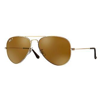 Ray-Ban Aviator klassiska guld polariserade solglasögon - RB3025-001/57-58