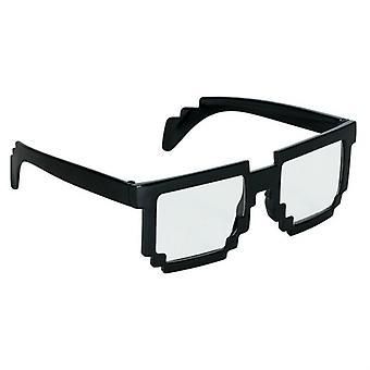 Czarny piksel okulary zabawy pikseli okulary jasne okulary