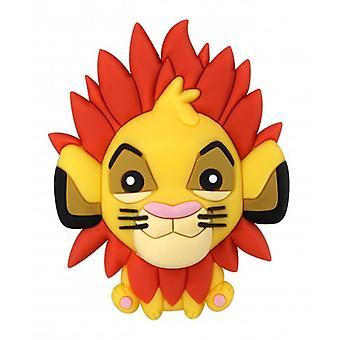 3D-Schaum-Magnet - Disney - König der Löwen - Simba Neu 85999