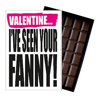 Funny Valentine?s Day Gift A Rude Naughty Present for Women 85g Chocolate Card IYF137