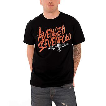 Răzbunat Sevenfold tricou Orange stropi Death bat trupa logo oficial Mens