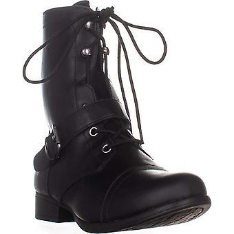 Amerikan Rag Womens Farahh Kapalı Ayak Orta Buzağı Combat Boots