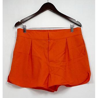 Harlowe & Graham Shorts strukturierte Front Zip w / Taschen Orange