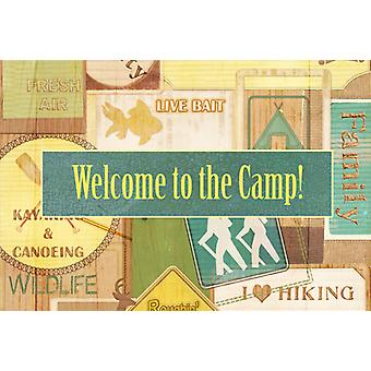 Carolines Treasures  SB3080PLMT Welcome to the Camp Fabric Placemat