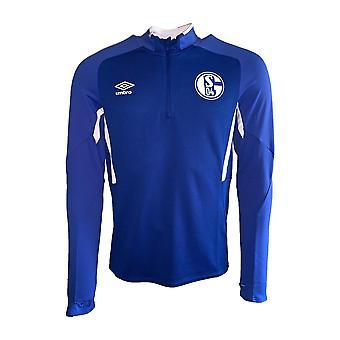 2019-2020 Schalke Umbro Half Zip Training Top (Blue)