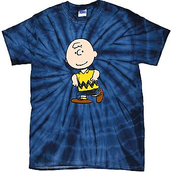 Peanuts Charlie Brown Men's Tonal Spider T-Shirt