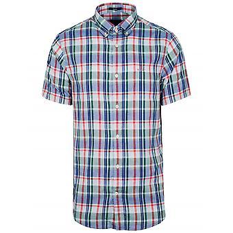 GANT Ivy Green Check Short-Sleeve Shirt