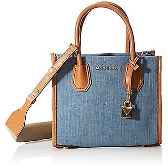 مايكل كورس ميرسر حقيبة الكتف حقيبة المرأة حقيبة الكتف (غسلها الدنيم)12x23x20 سنتيمتر (B x H x T)