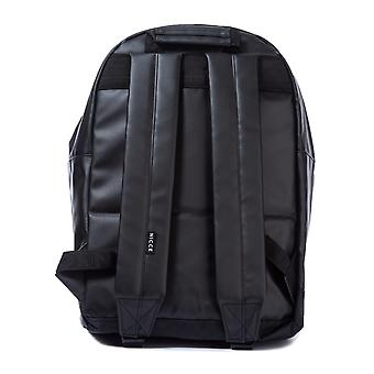 Mens Nicce Cain Backpack In Black- One Main Zip Compartment- Zip Pocket To