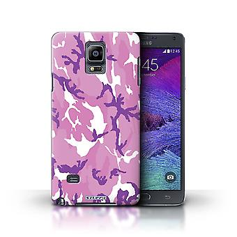 STUFF4 Case/Cover for Samsung Galaxy Note 4/Pink 4/Camouflage Army Navy