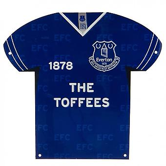 Everton FC Shirt Shaped Metal Sign