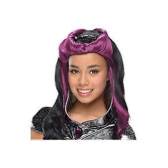 Girls Ever After High Raven Queen Wig Halloween Fancy Dress Costume Accessory