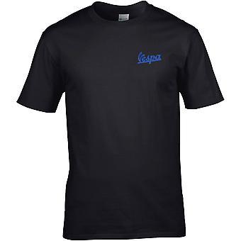 Vespa-scooter mod brodert logo-Cotton Premium T-skjorte