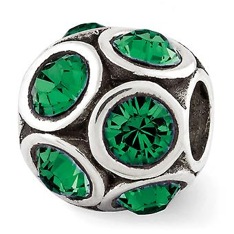 925 plata esterlina pulido reflexiones pueden cristal perla encanto colgante collar regalos de joyería para las mujeres