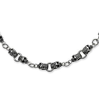Aço inoxidável polido lagosta fina colar de caveira de 24 polegadas jóias presentes para mulheres