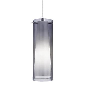 Eglo Pinto Nero Single Drop Transparente Negro Colgante de cristal