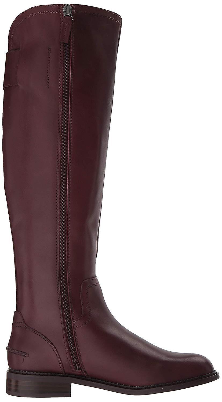 Franco Sarto Womens Henrietta Leather Almond Toe Knee High Fashion Boots