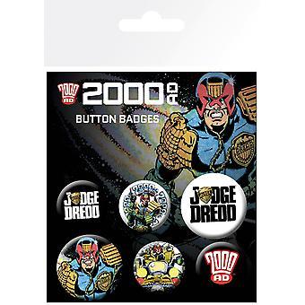2000 AD bíró Dredd BADGE Pack
