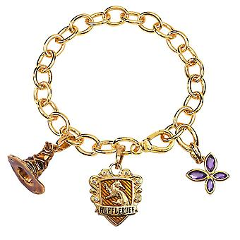 Harry Potter Lumos Hufflepuff Charm Bracelet