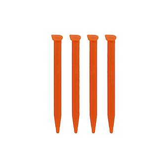 Replacement slot in touch stylus pens for nintendo 2ds xl - 4 pack orange