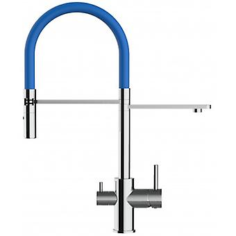 3 Way Kitchen Filter Sink Mixer With Blue Spring Spout And 2 Jet Spray, Works With All Water Filter System - 165