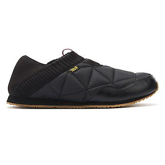Teva Ember Moc Womens Black Slippers