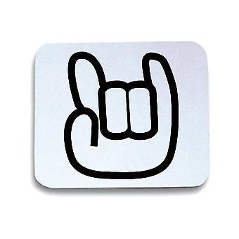 White white mouse pad pad fun3945 logo you rock en
