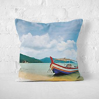 Meesoz Cushion Cover - Boat On The Beach